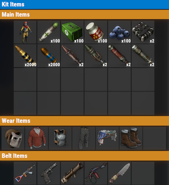 Rust PvE VIP+++ Daily Kit