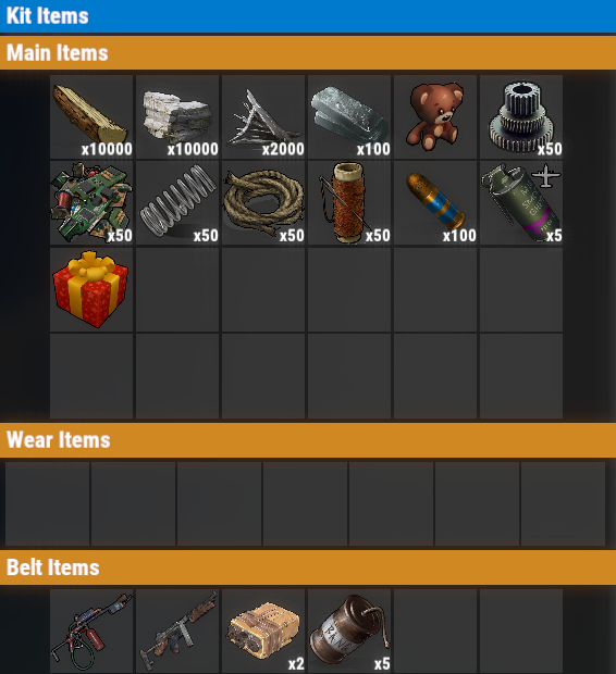 Rust PvE Free VIP Once Kit