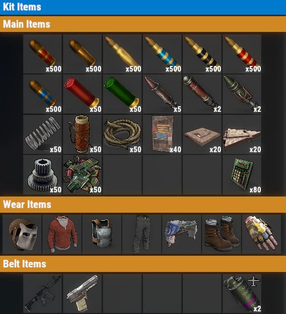 Rust PvE VIP+ Weekly Kit