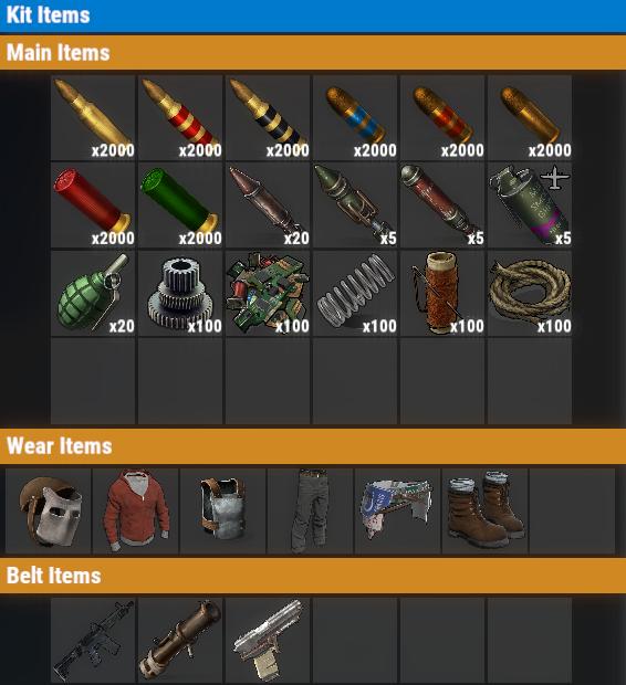 Rust PvE VIP++ Weekly Kit