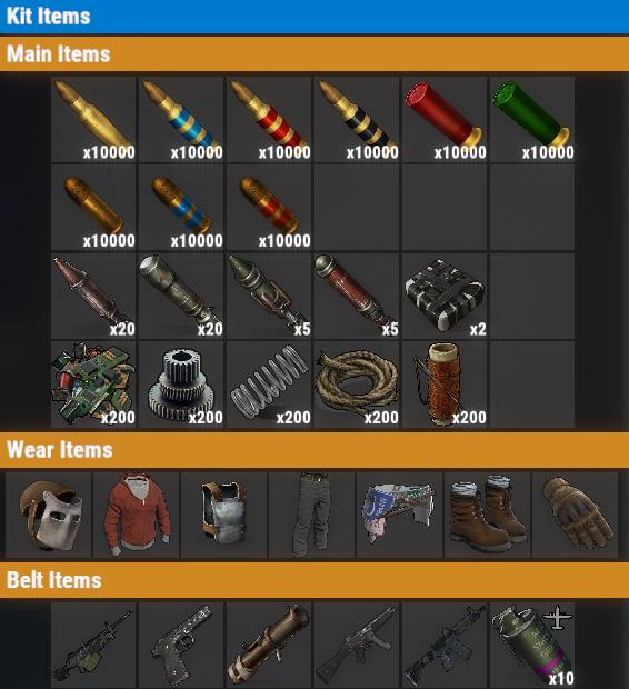 Rust PvE VIP+++ Weekly Kit