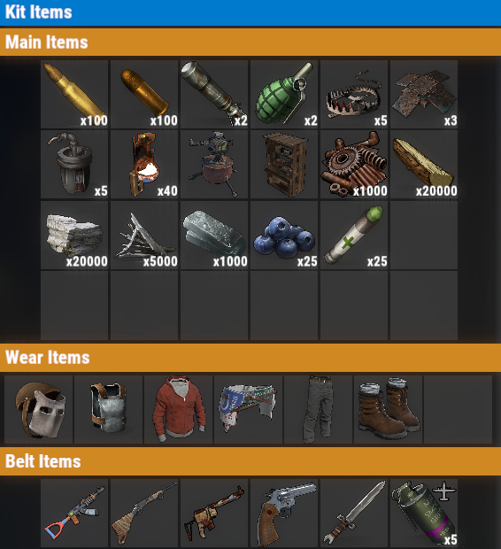 Rust PvP VIP+ Once Kit
