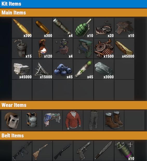 Rust PvP VIP+++ Once Kit