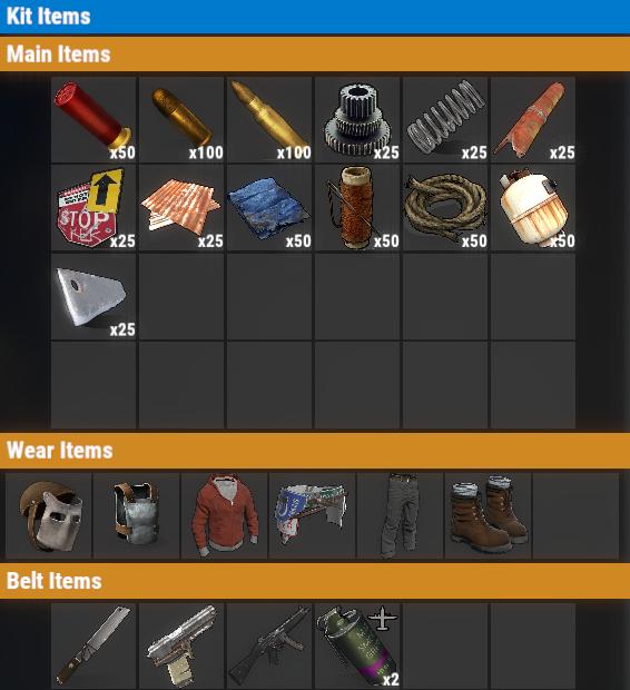 Rust PvP VIP+ Weekly Kit